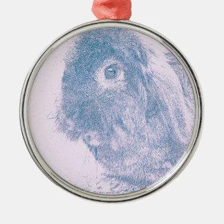 Purple haze rabbit Silver-Colored round decoration