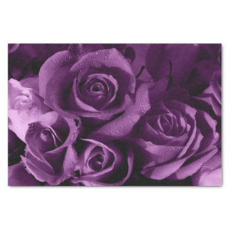 Purple Haze Rose - Custom 10lb Tissue Paper, White Tissue Paper