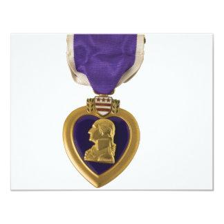 Purple Heart 11 Cm X 14 Cm Invitation Card