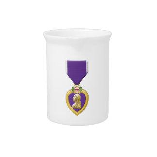 Purple Heart Beverage Pitcher