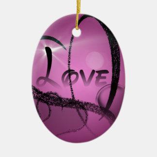 Purple-Heart Christmas Ornament