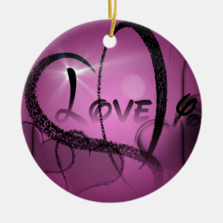 Purple-Heart Christmas Ornament