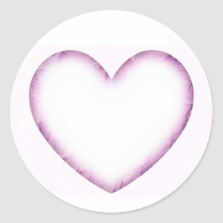 Purple Heart Classic Round Sticker