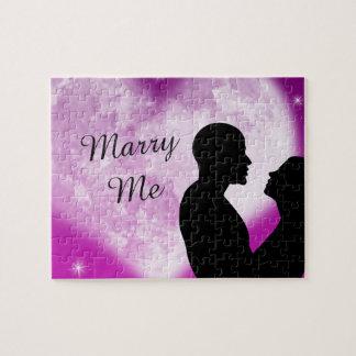Purple Heart Couple Marry Me Puzzle
