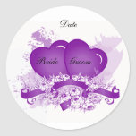 Purple Heart Envelope Seal Sticker Template
