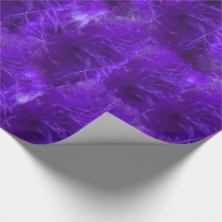 Purple Heart Feathers Wrapping Paper