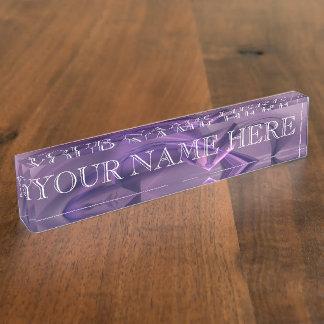 Purple Heart Fractal Name Plate
