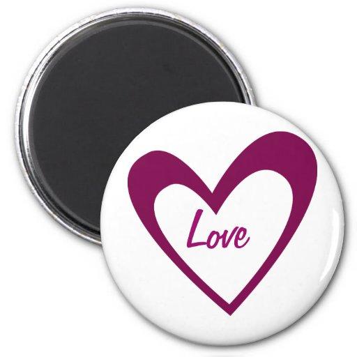 Purple Heart Fridge Magnet