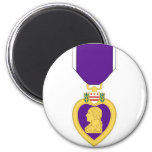 Purple Heart Medal 6 Cm Round Magnet