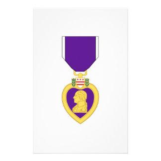 Purple Heart Medal Stationery