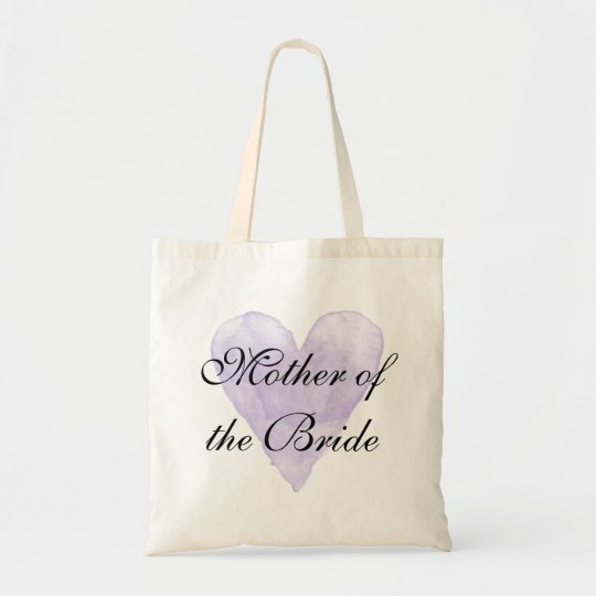 Purple heart Mother of the Bride wedding tote