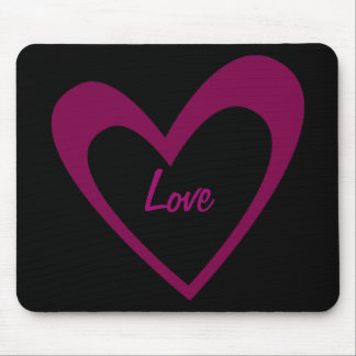 Purple Heart Mouse Pad