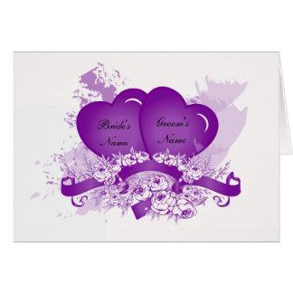 Purple Heart Note Card Template