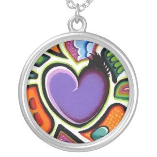 purple heart of l ove custom necklace