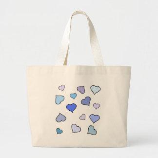purple heart pattern bag