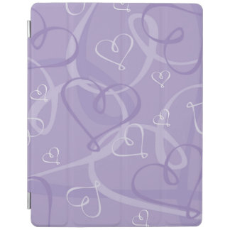 Purple heart pattern iPad cover