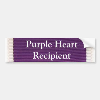 Purple Heart Recipient Bumper Sticker