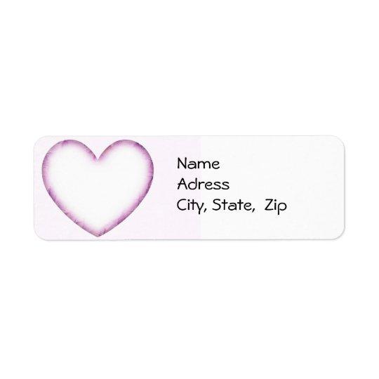 Purple Heart Return Address Label