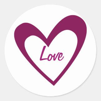 Purple Heart Round Sticker