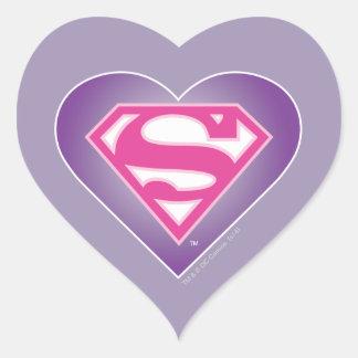 Purple Heart S-Shield Heart Sticker