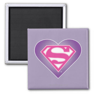 Purple Heart S-Shield Square Magnet