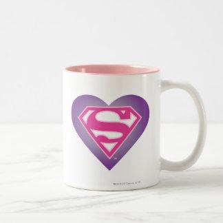 Purple Heart S-Shield Two-Tone Coffee Mug