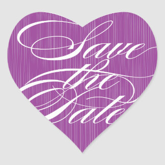 Purple Heart Save the Date Envelope Seal Stickers