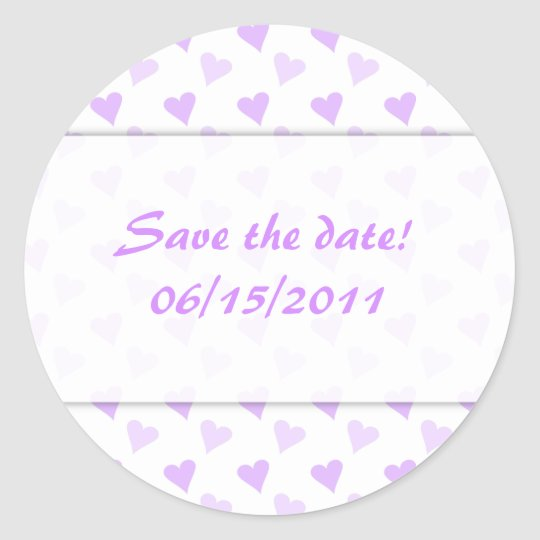 Purple Heart Save The Date Stickers