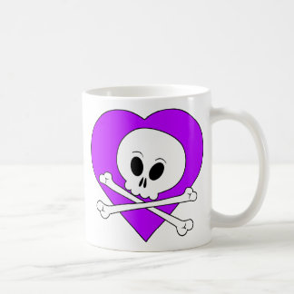 Purple Heart Skull Mugs