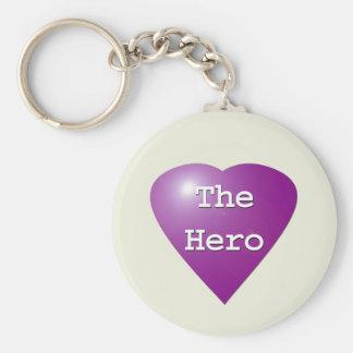 Purple Heart-The Hero Keychain