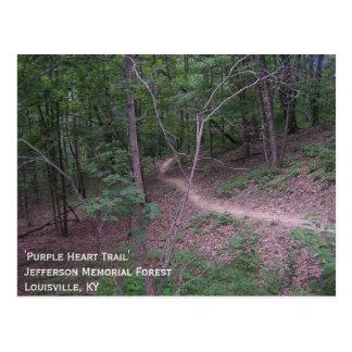 'Purple Heart Trail' Postcard