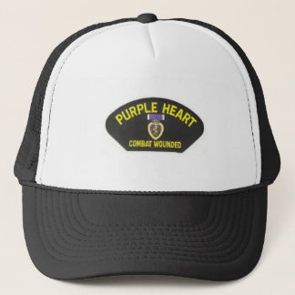 Purple Heart Trucker Hat
