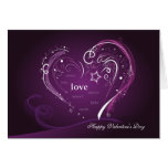 Purple Heart Valentine's Day Greeting Card