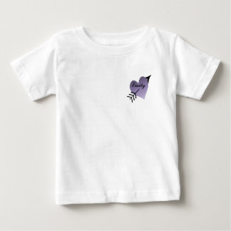 Purple Heart with Black Arrow Baby T-Shirt