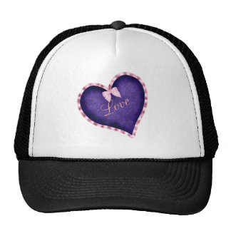 Purple Heart with Love Mesh Hats