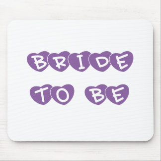 Purple Hearts Bride to Be Mouse Pad