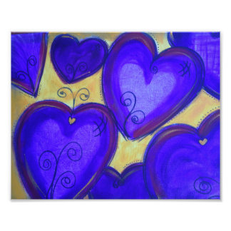 Purple Hearts of Love Poster Photograph