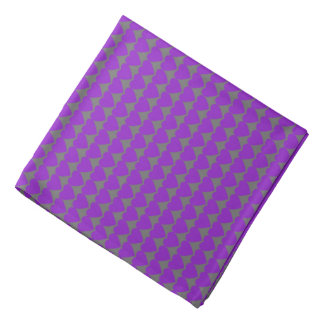 Purple Hearts on Gray Do-rag