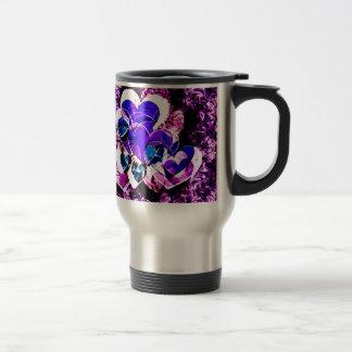 Purple Hearts Stainless Steel Travel Mug