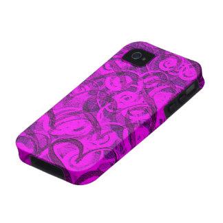purple hearts & swirls i-phone 4 case iPhone 4/4S case