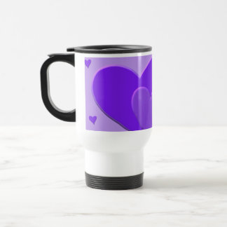 Purple Hearts Travel Mug