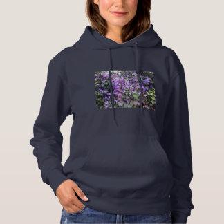 Purple Hedge Flower Hoodie (Navy)