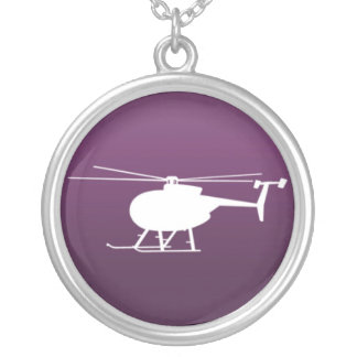 purple helicopter necklace