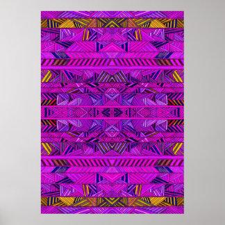 Purple Herringbone Geology Poster