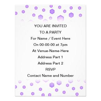 Purple Hexagons Invitations