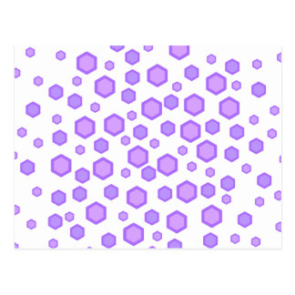 Purple Hexagons. Postcards