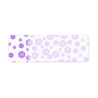 Purple Hexagons. Return Address Label