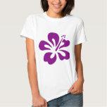 Purple hibiscus aloha flower C Tshirt