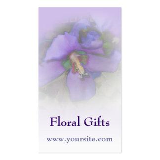 Purple Hibiscus Business Card Template