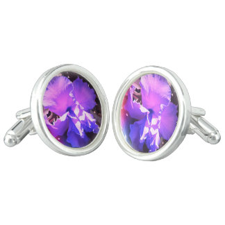 Purple Hibiscus Cufflinks
